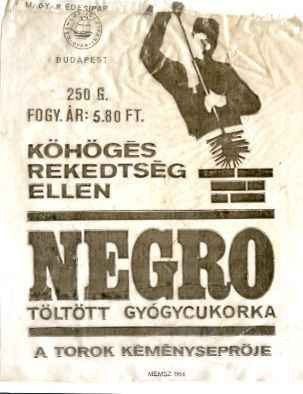 Negro cukorka reklám plakát.
