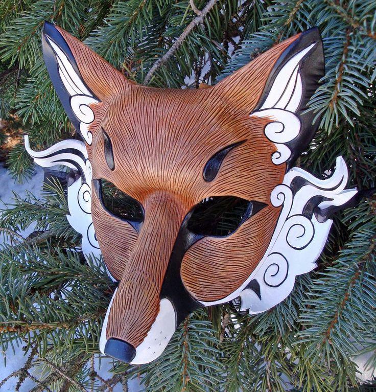 Japanese Fox Mask by merimask.deviantart.com