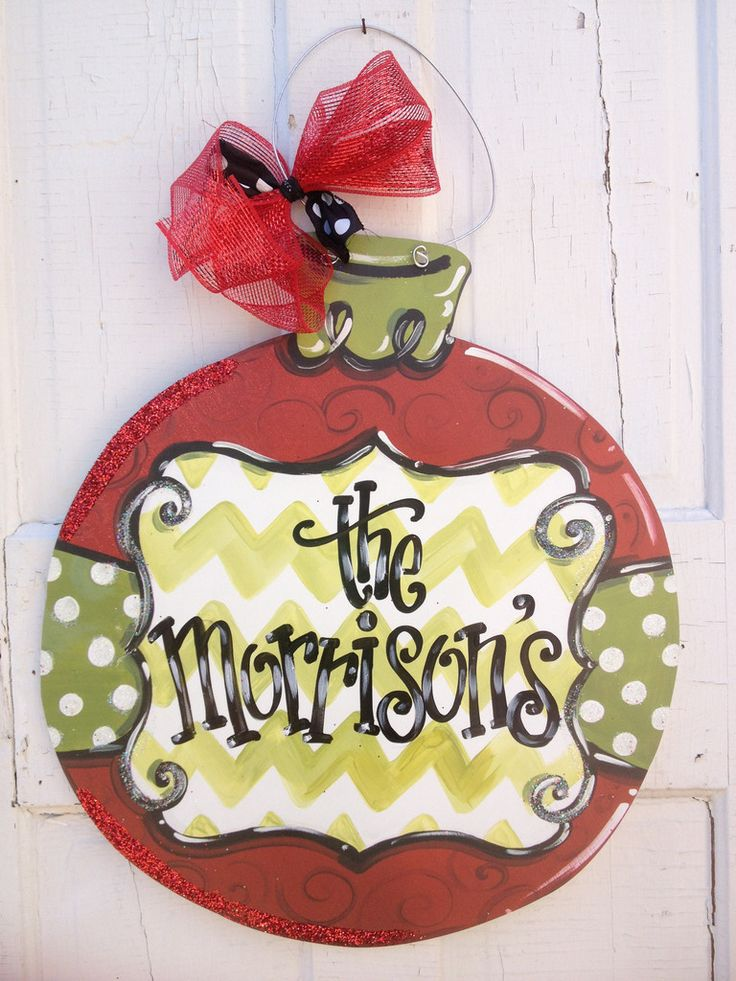 30 best Christmas Door Hanger images on Pinterest | Christmas door ...