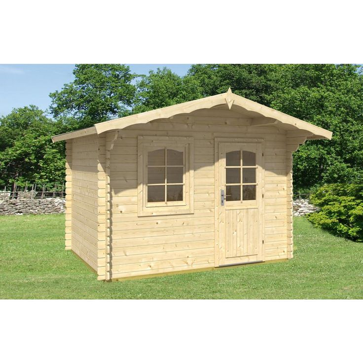 EZ Log Structures 10 ft. 5 in. x 12 ft. 5 in. x 8 ft. Log