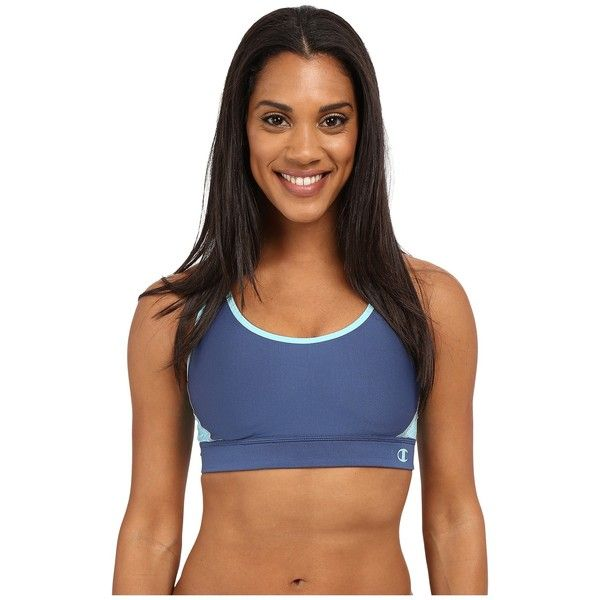 Champion The Great Divide Women's Bra ($40) ❤ liked on Polyvore featuring activewear, sports bras, racer back sports bra, champion activewear, strappy sports bra, champion sports bra and champion sportswear