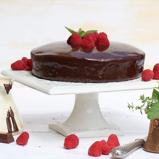 Bizcocho con cobertura de chocolate