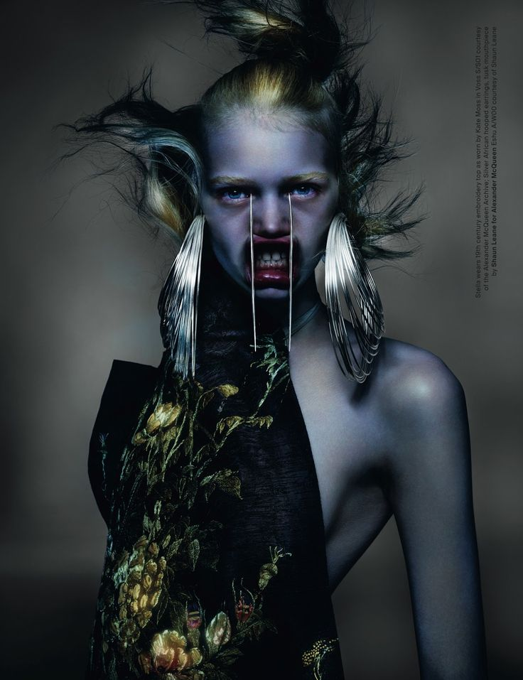 visual optimism; fashion editorials, shows, campaigns & more!: McQueen: stella lucia, julia, aymeline, romy and nika by nick knight for anOther spring / summer 2015