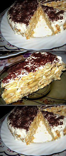 Вкуснота, даже не догадаетесь!Торт без выпечки, из крекеров!.