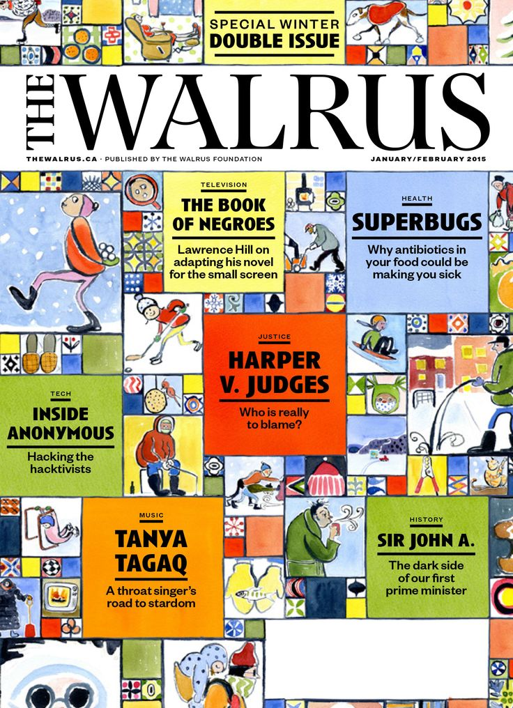 January/February 2015 issue of The Walrus              Fearless. Witty. Thoughtful. Canadian.                    The Walrus invites writers and artists to submit brief query letters detailing prospective stories on Canada and its place in the world.                                                                     All details at: http://thewalrus.ca/magazine/submissions/