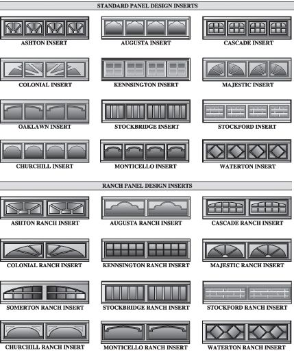 Decorative garage doors windows inserts, beveled & faux leaded glass from Windsor Door