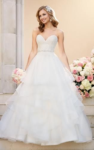 Deep sweetheart ballgown wedding dress by Essense of Australia available at The Bridal Cottage in NLR,AR