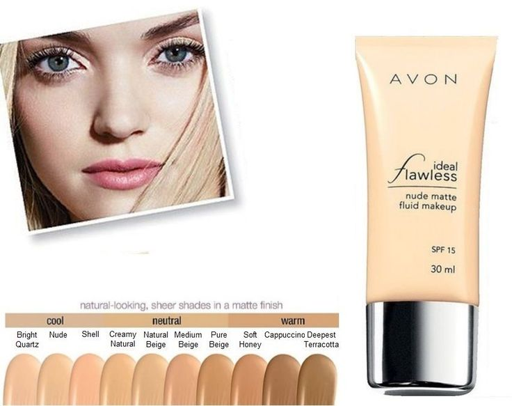 Avon Foundation Ideal Flawless Sheer Coverage Matte Finish 30ml SPF 15 £5.95 (RRP £8.50) #Avon #BC4U