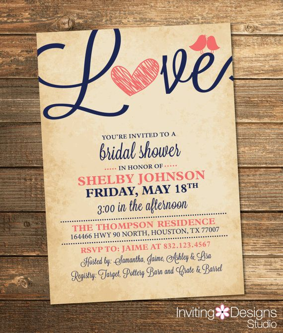 Brand-new 65 best Coral & Navy Wedding Shower Event images on Pinterest  AH63