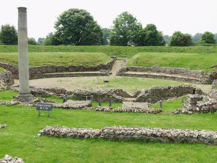 Photgraph of the Roman Theatre at Verulamium, St. Albans, Hertfordshire
