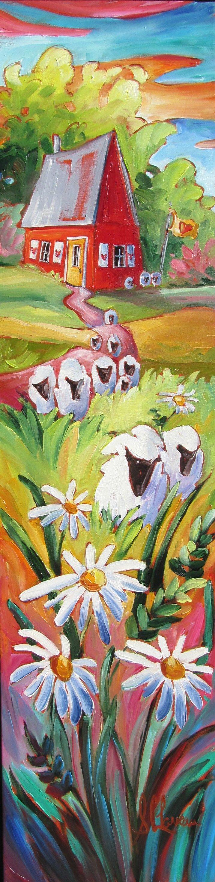 Paysages Champêtres - Centre d'Art Suzanne Claveau Artiste Peintre