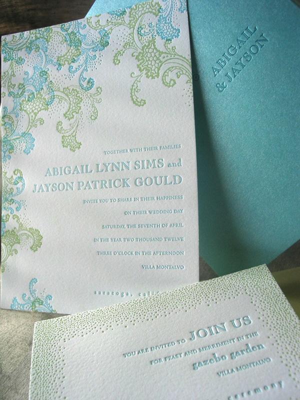 wedding invitation card format marathi wording%0A Letterpress Wedding Invitations Seaspray  loving these colors