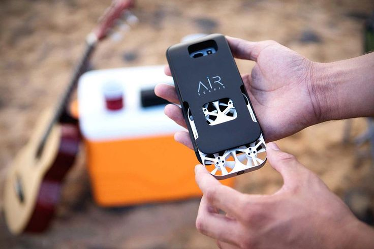 AirSelfie announced what it calls the first pocket camera drone in the world, one that promises to finally replace your ugly selfie stick.  Equipped with four propellers and a 5-megapixel HD camera, the drone can fly vertically up to 66 feet.  Control is via your smartphone and WiFi — and the drone creates its own network for you, so it can be used anywhere.  Using the selfie delay timer function, you can take timed photos, giving you up to 10 seconds to get into position.  The company is…