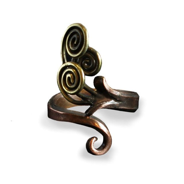 Special handcrafted brass and copper ring by intuitashop on Etsy