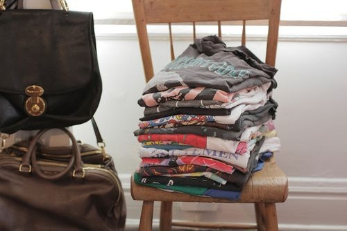 t shirts piled on a chair - geniusGraphics Tees, Vintage Tees, Style Inspiration, Rocks Tees, Tshirt Collection, Organic Closets, Rocker Tees, T Shirts, Dreams Wardrobes