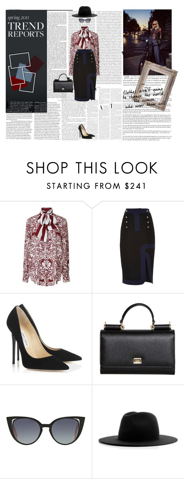 """#563"" by holyanna ❤ liked on Polyvore featuring Oris, Nicki Minaj, Mother of Pearl, Peter Pilotto, Jimmy Choo, Dolce&Gabbana, Fendi, Études and Burton"