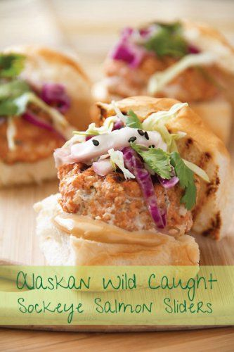 Asian Spiced Salmon Sliders with Soy Mayo & Spicy Slaw. - via Sippity ...