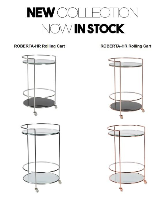 EuroStyle Roberta Rolling Cart - Available through DDA