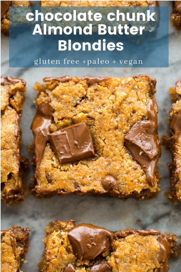 Paleo Vegan Blondies Recipe Vegan Blondies Paleo Dessert Food