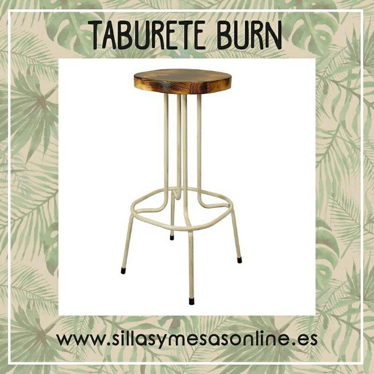 🔥Taburete Burn vintage para hostelería en acero blanco envejecido y con asiento de madera 🔥 https://sillasymesasonline.es/mobiliario-vintage/taburete-vintage-burn  #taburetes #mobiliario #vintage #restaurantes #bar #mobiliario