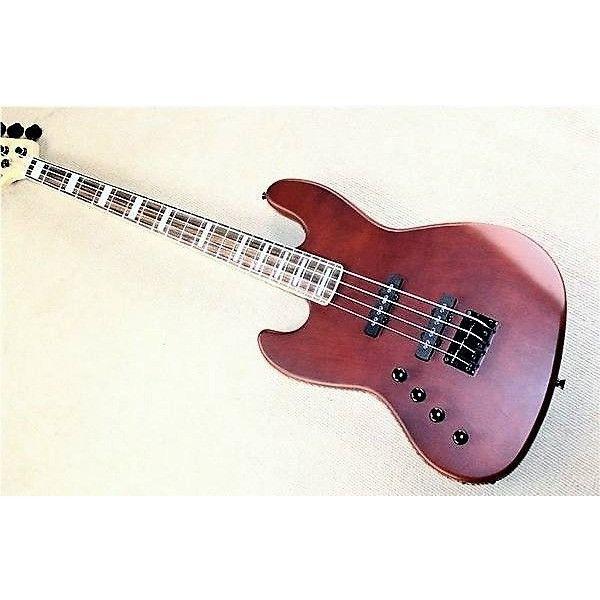 Left handed Custom 4 string Jazz Bass Guitar.