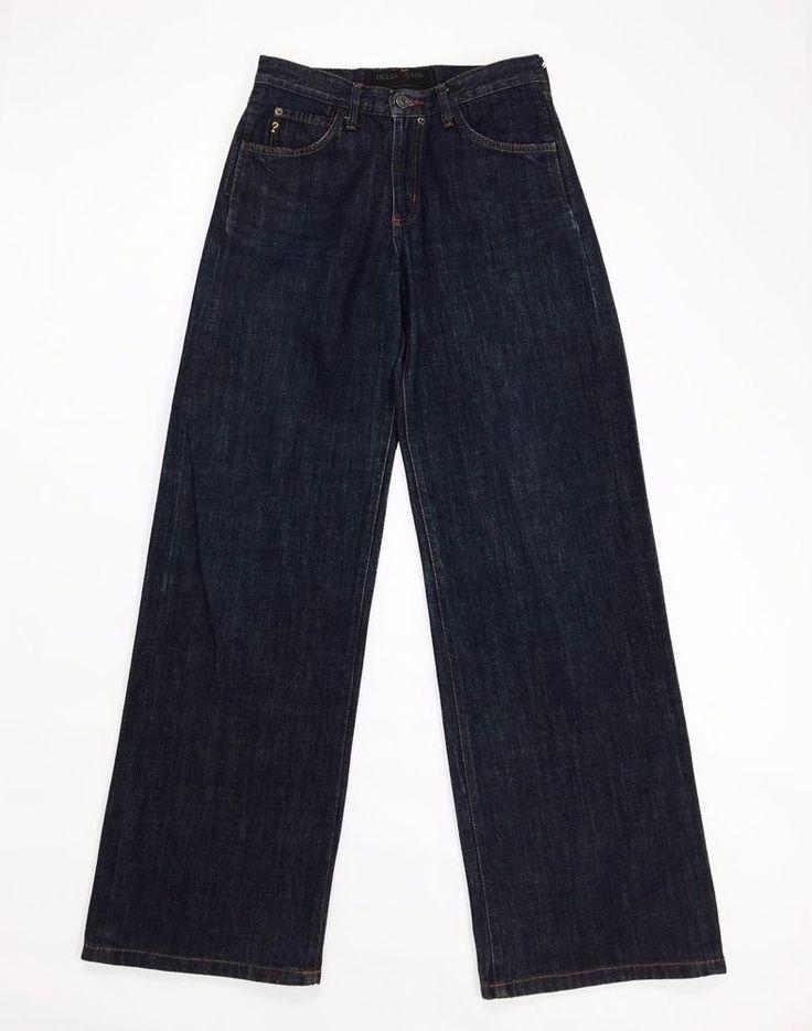 Guess jeans svasati gamba larga size 29 tg 42 44 zampa vintage blu donna usato