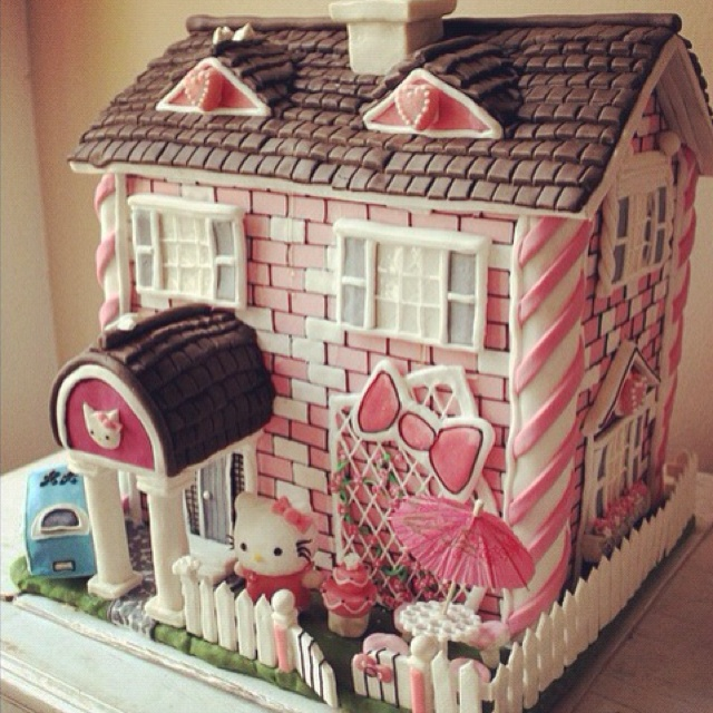 Hello Kitty House cake.