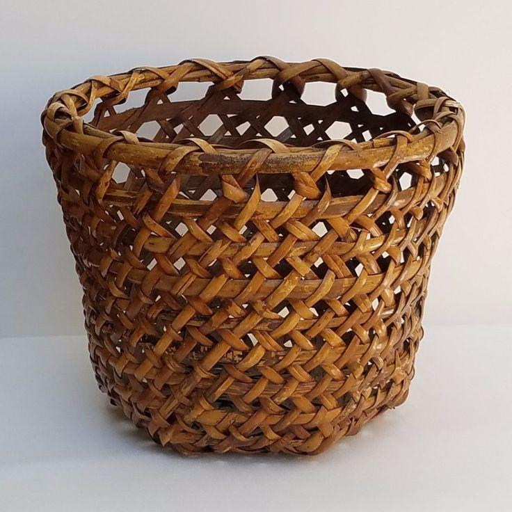 Basket Rustic Primitive Decor 12 1/2 Inch Diameter  #Unbranded #RusticPrimitive