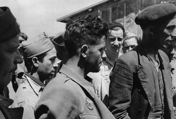 Spanish Republican combatants, Barcares Concentration Camp, Barcares, France 1939