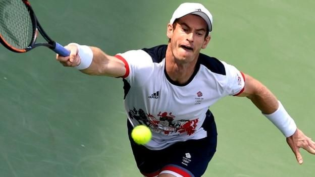 #tennis #news  Murray races into last 16 of singles
