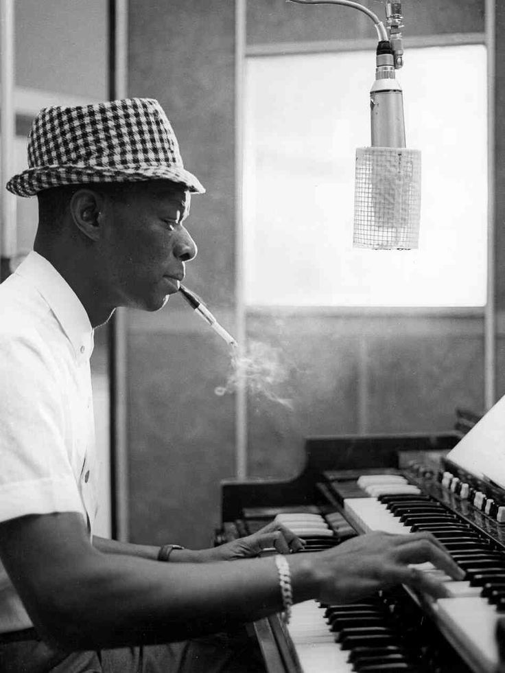 KOOL KAT | 1963 Nat King Cole recording at Capitol Recording Studios in Los Angeles, circa 1963.