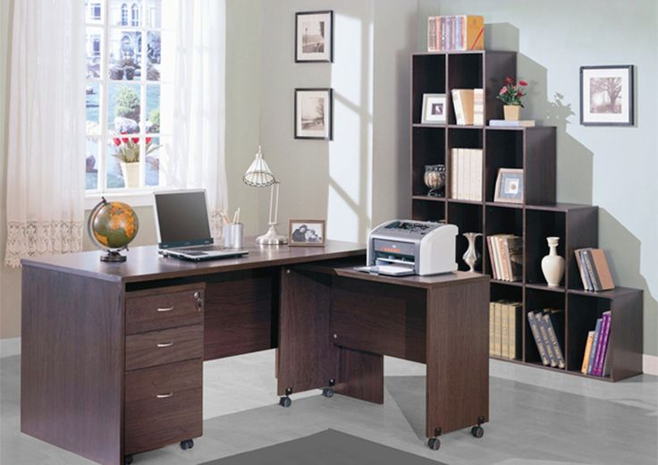 An office table, Side table, and a Cabinet comes along as a set. The computer table is spacious enough to place your computer and related equipment.  The cabinet with 3 drawers can be either placed on your right-hand side or left-hand side as per your convenience.T The side table with casters can be used to place documents, books, and other related essentials. The casters are fixed for easy mobility. Made up of plywood with laminate finish. If you were looking for a one with these features…