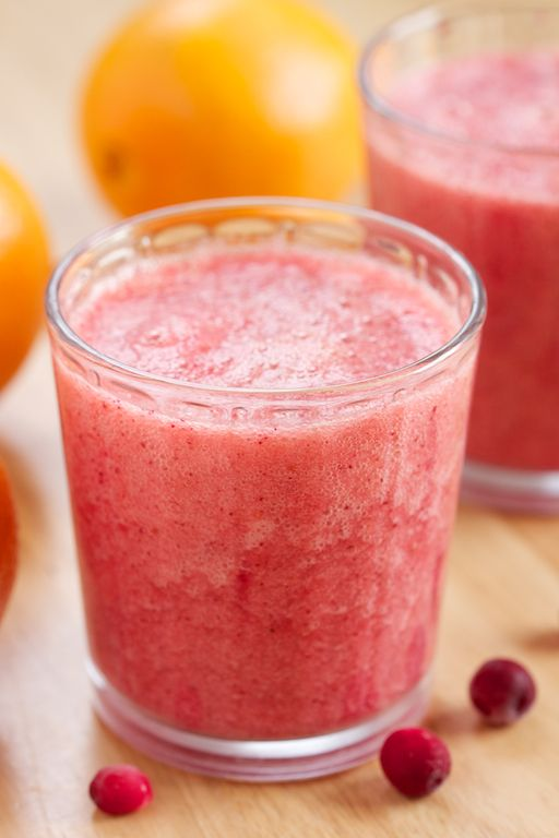Vitamin C Booster Cranberry Orange Smoothie: for those days when a cold comes uninvited