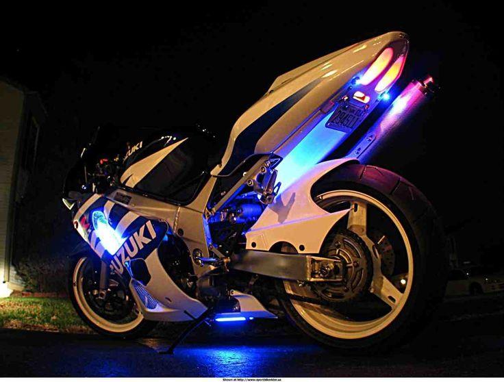 Image Via Purple LED Motorcycle Wheel Lighting Lights Glow Kit For Harley Davidson