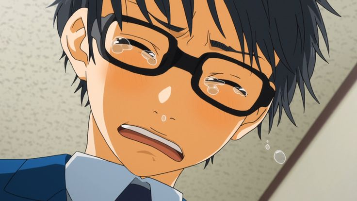 Kousei arima crying your lie in april you lied anime nerd