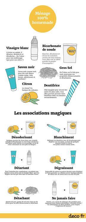 Infographie ingredients naturels ménage