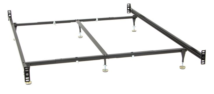 Queen or King Size Bed Rail Frame with 6 Legs