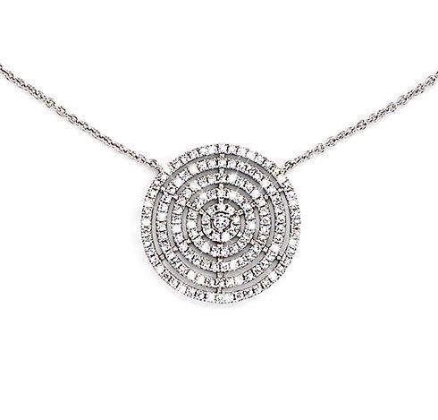 Stříbrný náhrdelník se zirkony* Kulatý