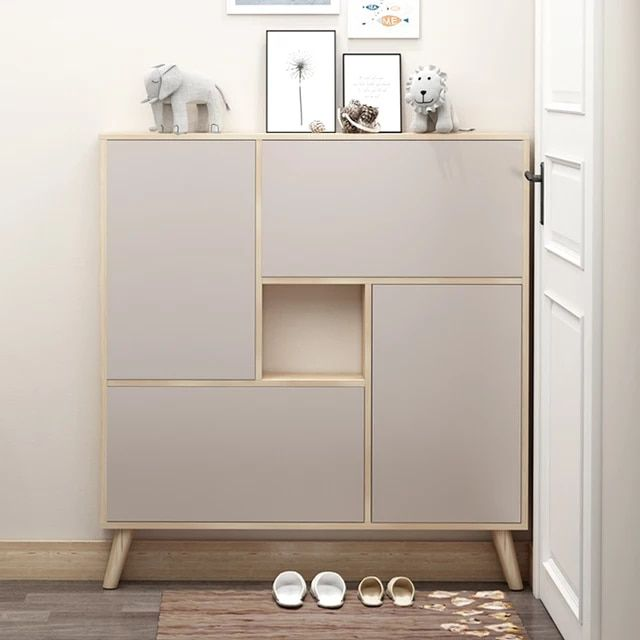 Us 151 60 Louis Fashion Shoe Cabinets Ultra Thin Nordic Doorway