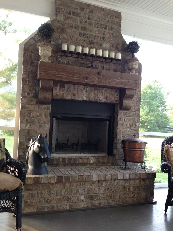 back porch fireplace home pinterest