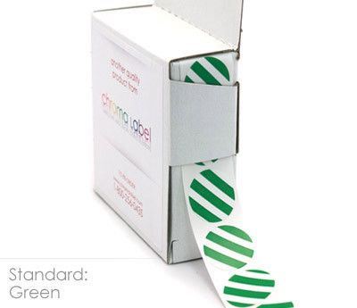 "3/4"" Striped, Color-Code Dots - 24 Box Case"