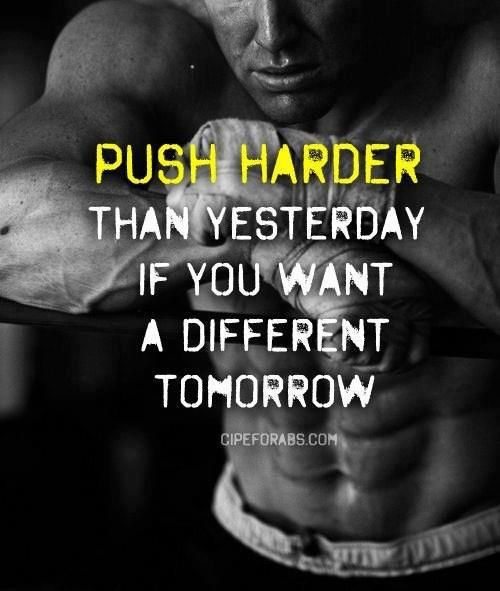 Ever notice that a motivational quote can serve to inspire more physical or mental effort?  Either way, give it your all!