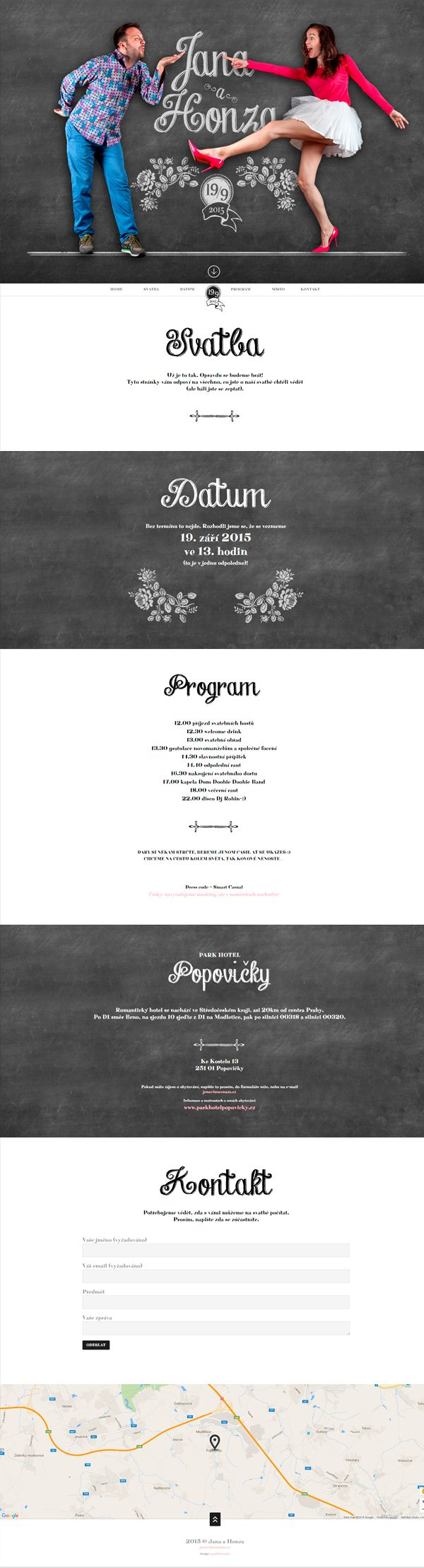 Zábavný svatební web / Cheerful Wedding Website