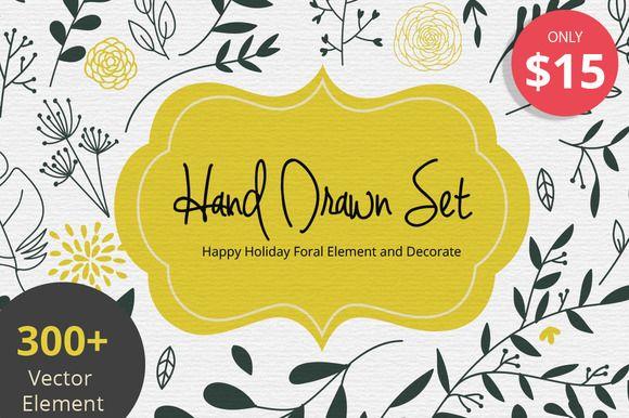 Hand Drawn Bundle Set 1 by beerjunk on @creativemarket