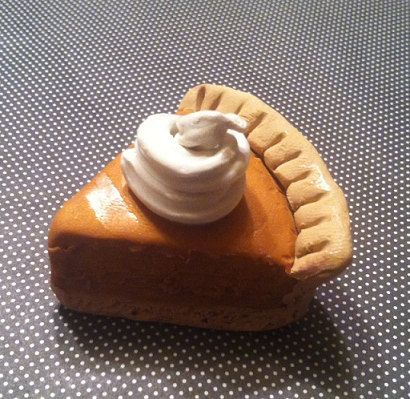 Homemade Pumpkin Pie Magnet Polymer Clay by GuiltfreeDecadence, $9.00