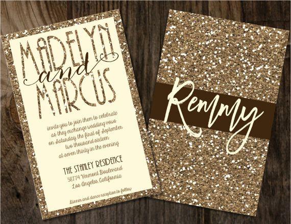 42 best Glitter Invitations images on Pinterest Glitter wedding