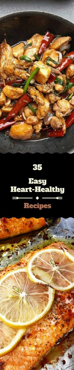 35 Easy Heart Healthy Recipes. - Heart-healthy diets are aimed at preventing or reducing a number of risk factors that can lead to heart attacks and heart disease.