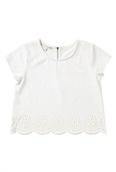 LASER CUT PEPLUM TEE #witcherywishlist (I think buying kids' clothing might be my new short person solution)