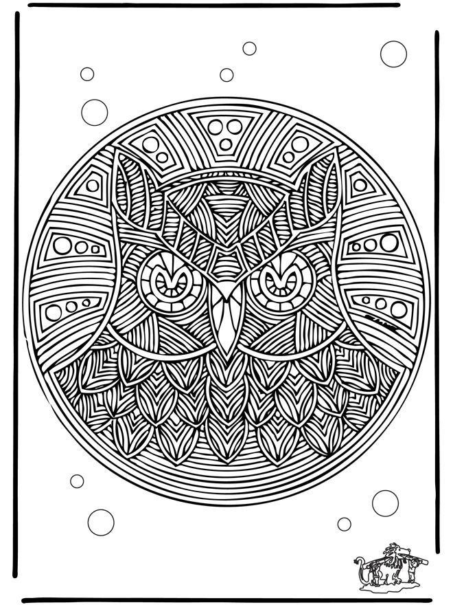 colouring in for adults free coloring pages mandala animal mandalas owl geometric shapes - Animal Mandala Coloring Pages Owl