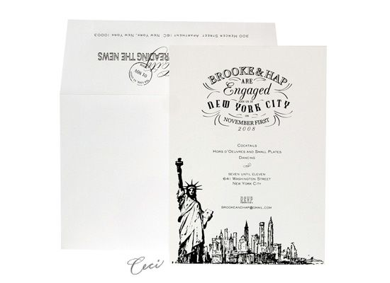 ceci new york hudson bay wedding invitations